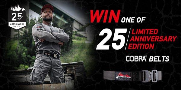 Win a COBRA® belt ltd. edt.