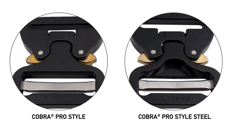 DIFFERENCE TO THE COBRA® PRO STYLE (ALUMINUM)